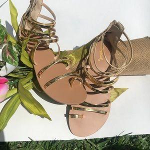 NEW Gold Gladiator Sandals